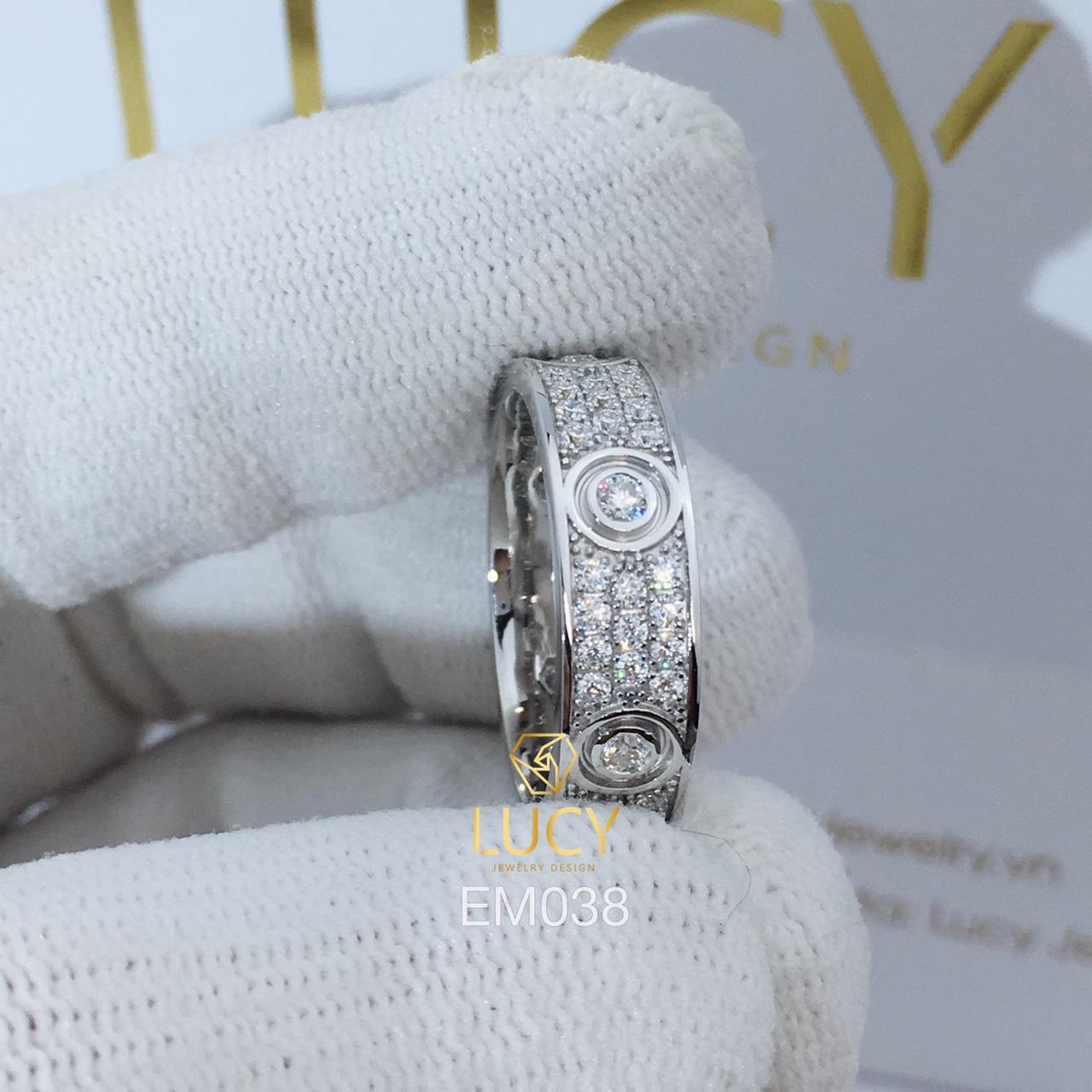 EM038 Nhẫn C.A.R.TI.ER full đá, nhẫn vàng, nhẫn thiết kế - Lucy Jewelry