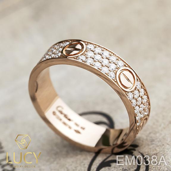 EM038A Nhẫn Cartier full đá, nhẫn vàng, nhẫn thiết kế - Lucy Jewelry