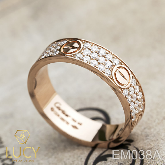 EM038A Nhẫn C.A.R.TI.ER full đá, nhẫn vàng, nhẫn thiết kế - Lucy Jewelry