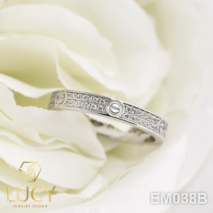 EM038B Nhẫn C.A.R.TI.ER mini full 2 hàng đá , nhẫn vàng, nhẫn thiết kế - Lucy Jewelry