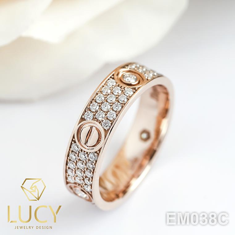 EM038C Nhẫn C.A.R.TI.ER full đá, nhẫn vàng, nhẫn thiết kế - Lucy Jewelry