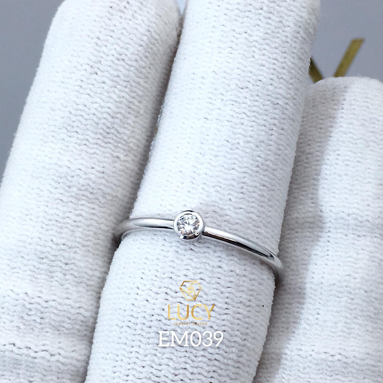 EM039 Nhẫn nữ vàng, nhẫn thiết kế, nhẫn cầu hôn, nhẫn đính hôn - Lucy Jewelry