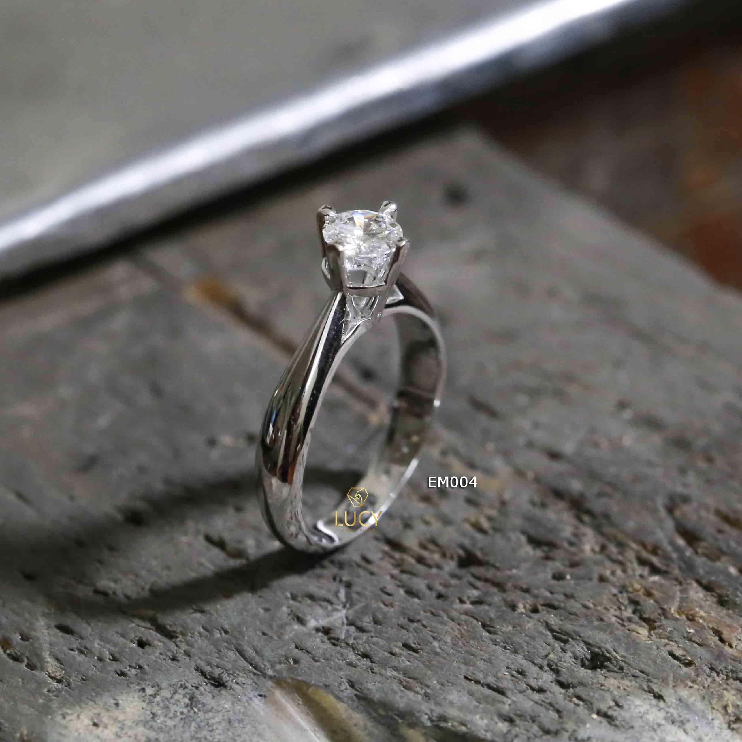 EM004 Nhẫn nữ thiết kế, nhẫn ổ kim 5mm, nhẫn nữ vàng, nhẫn cầu hôn, nhẫn đính hôn - Lucy Jewelry