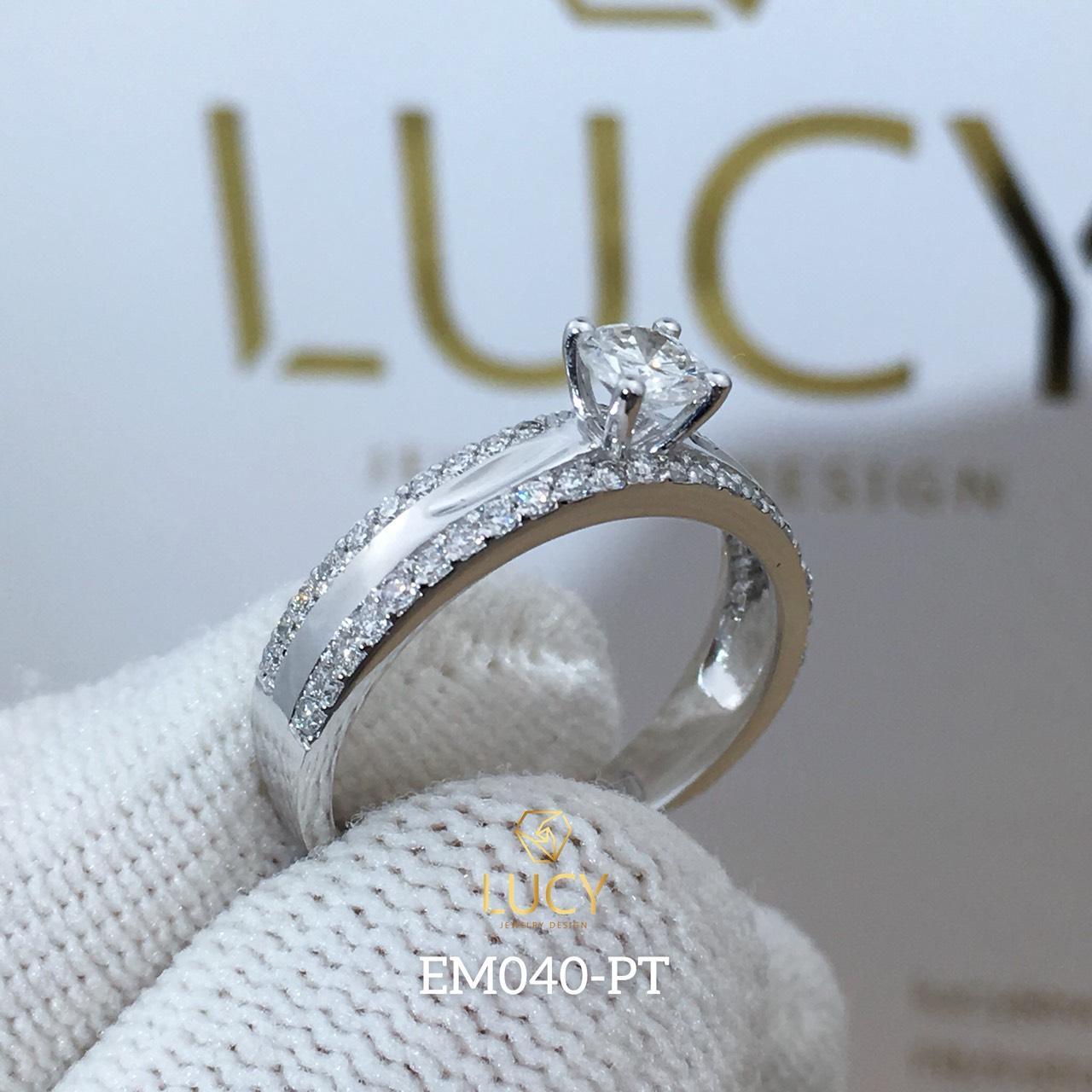 EM040 Nhẫn nữ vàng, nhẫn ổ 4mm, nhẫn nữ thiết kế, nhẫn cầu hôn, nhẫn đính hôn - Lucy Jewelry