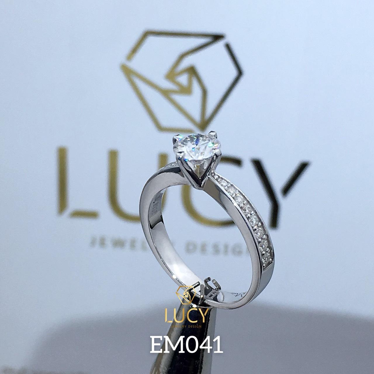 EM041 Nhẫn nữ vàng, nhẫn ổ 5,4mm, nhẫn nữ thiết kế, nhẫn cầu hôn, nhẫn đính hôn - Lucy Jewelry