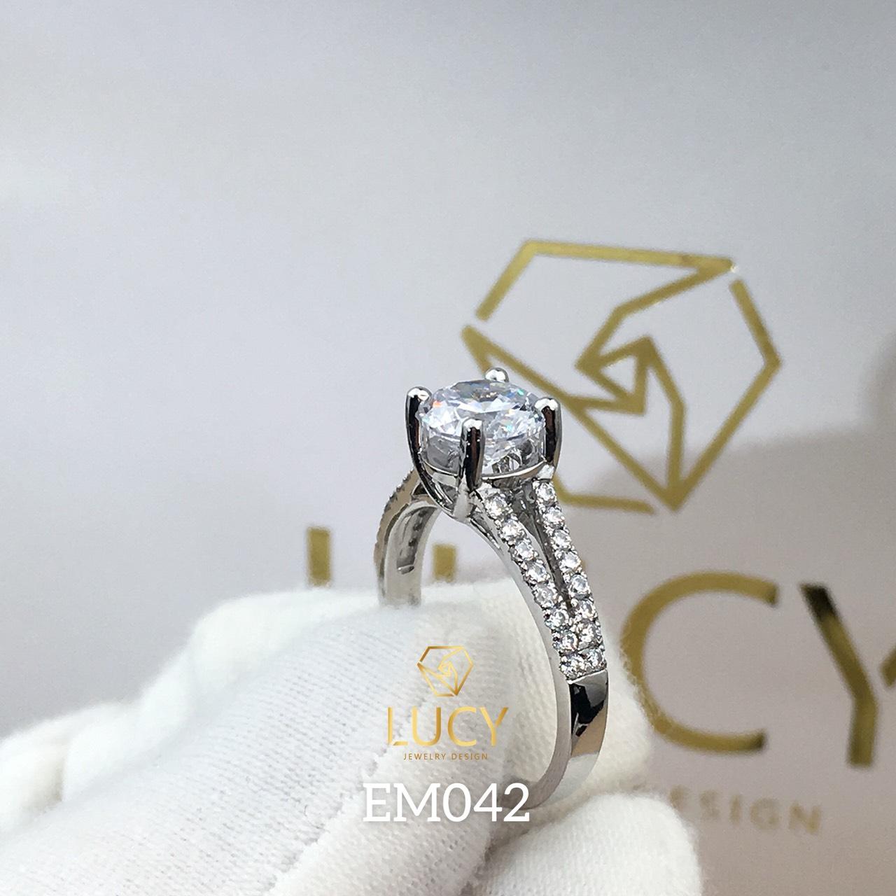 EM042 Nhẫn nữ vàng, nhẫn ổ 7mm, nhẫn nữ thiết kế, nhẫn cầu hôn, nhẫn đính hôn - Lucy Jewelry
