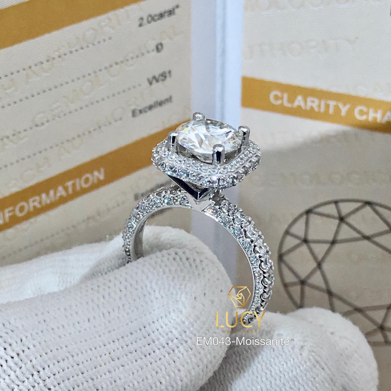 EM043 Nhẫn nữ vàng, nhẫn ổ kim 8.1mm, nhẫn thiết kế, nhẫn cầu hôn, nhẫn đính hôn - Lucy Jewelry