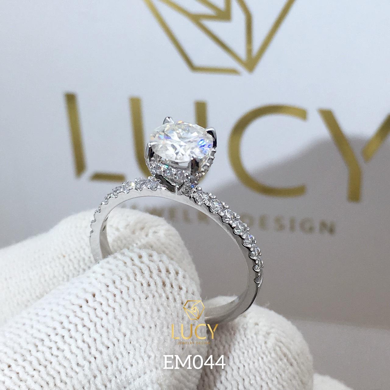 EM044 Nhẫn nữ vàng, nhẫn ổ 6mm, nhẫn nữ thiết kế, nhẫn cầu hôn, nhẫn đính hôn - Lucy Jewelry