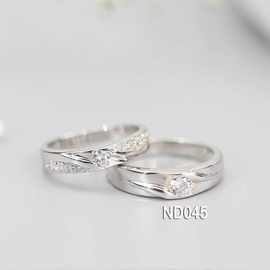 Nhẫn đôi nhẫn cặp bạc Lucy - ND045