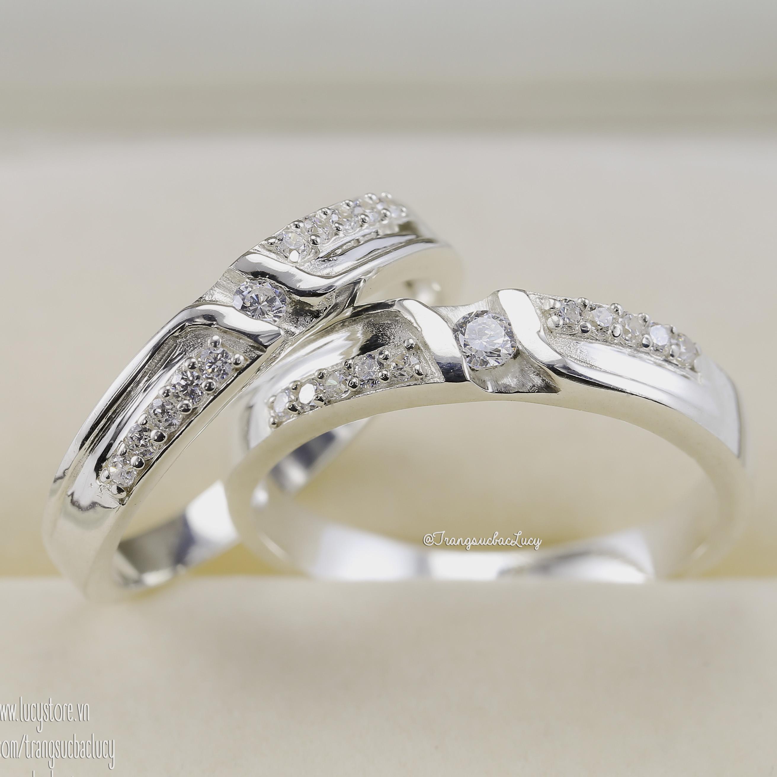 Nhẫn đôi nhẫn cặp bạc Lucy - ND031