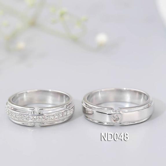 Nhẫn đôi nhẫn cặp bạc Lucy - ND048