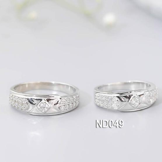 Nhẫn đôi nhẫn cặp bạc Lucy - ND049