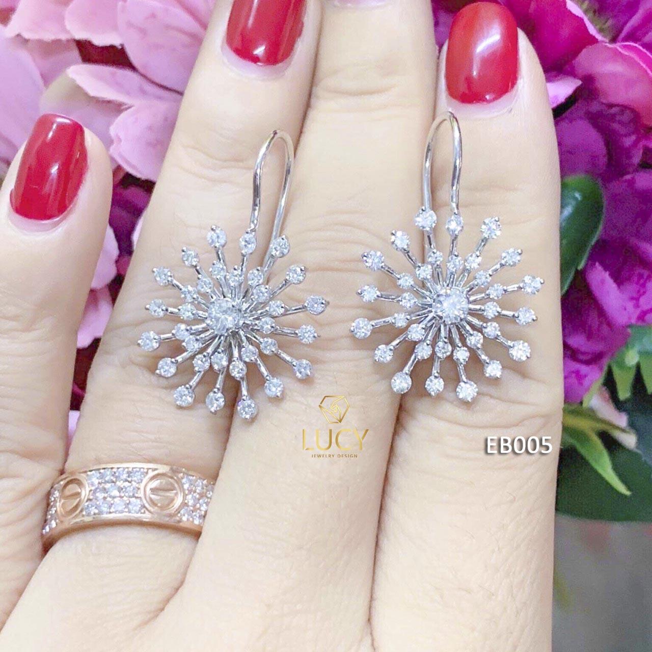EB005 Khuyên tai vàng thiết kế Lucy Jewelry