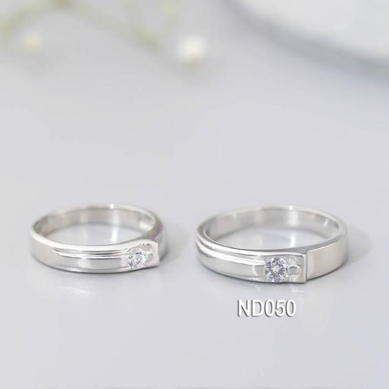 Nhẫn đôi nhẫn cặp bạc Lucy  - ND050