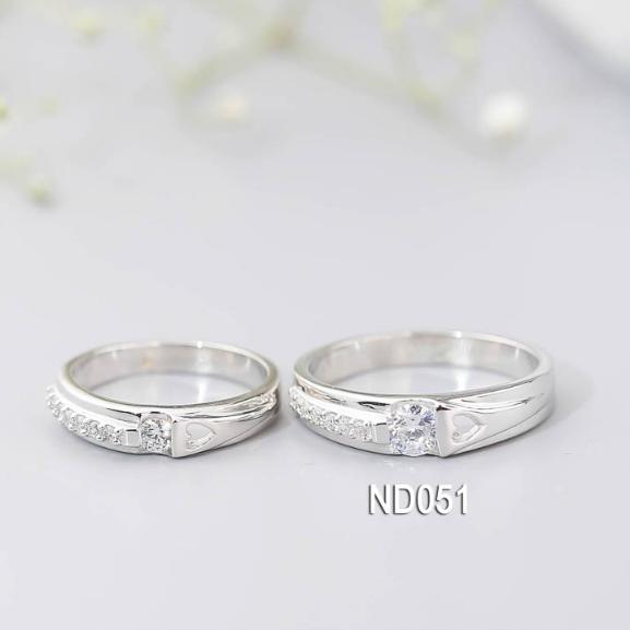 Nhẫn đôi nhẫn cặp bạc Lucy  - ND051