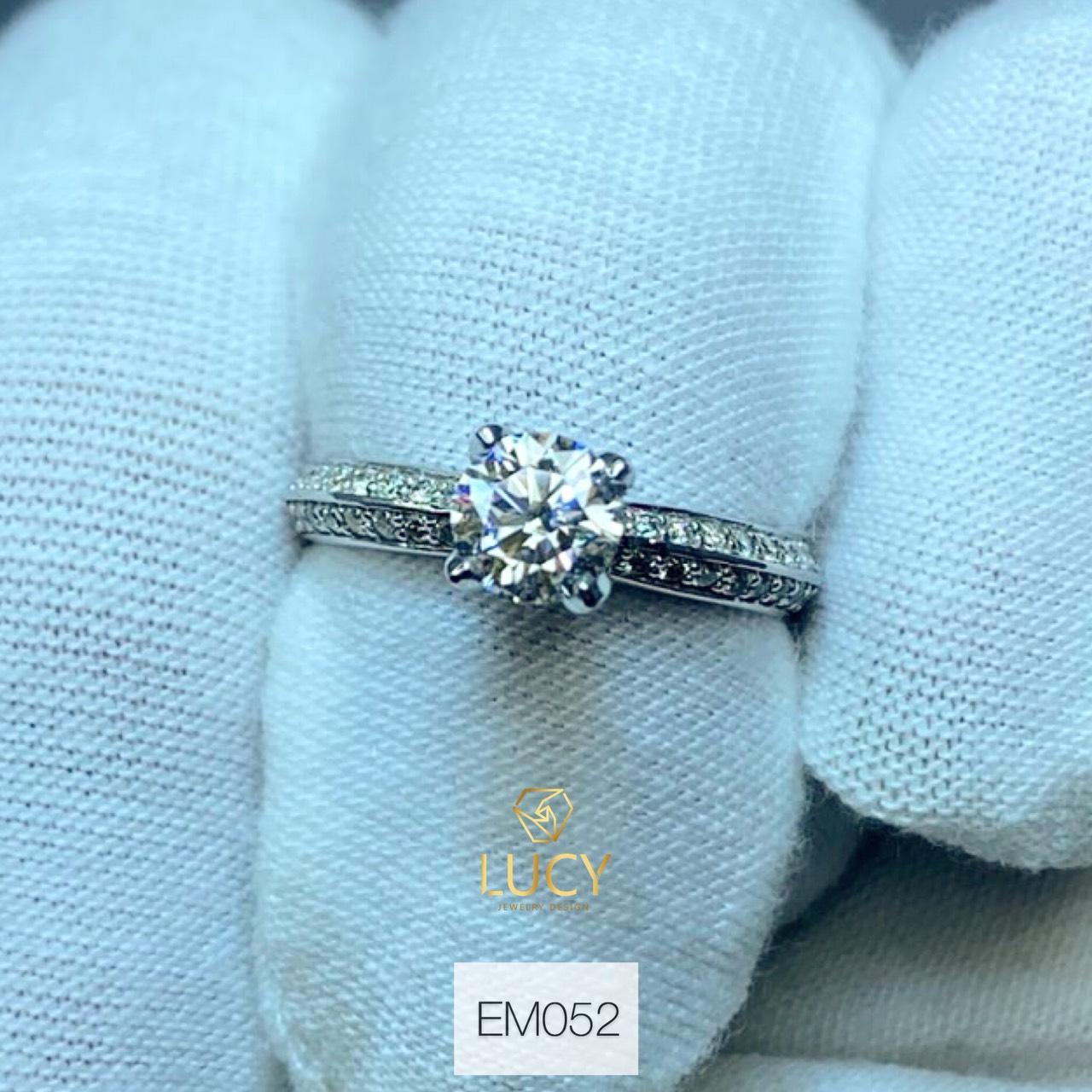 EM052 Nhẫn nữ vàng, nhẫn ổ 5.4mm nhẫn nữ thiết kế, nhẫn cầu hôn, nhẫn đính hôn - Lucy Jewelry