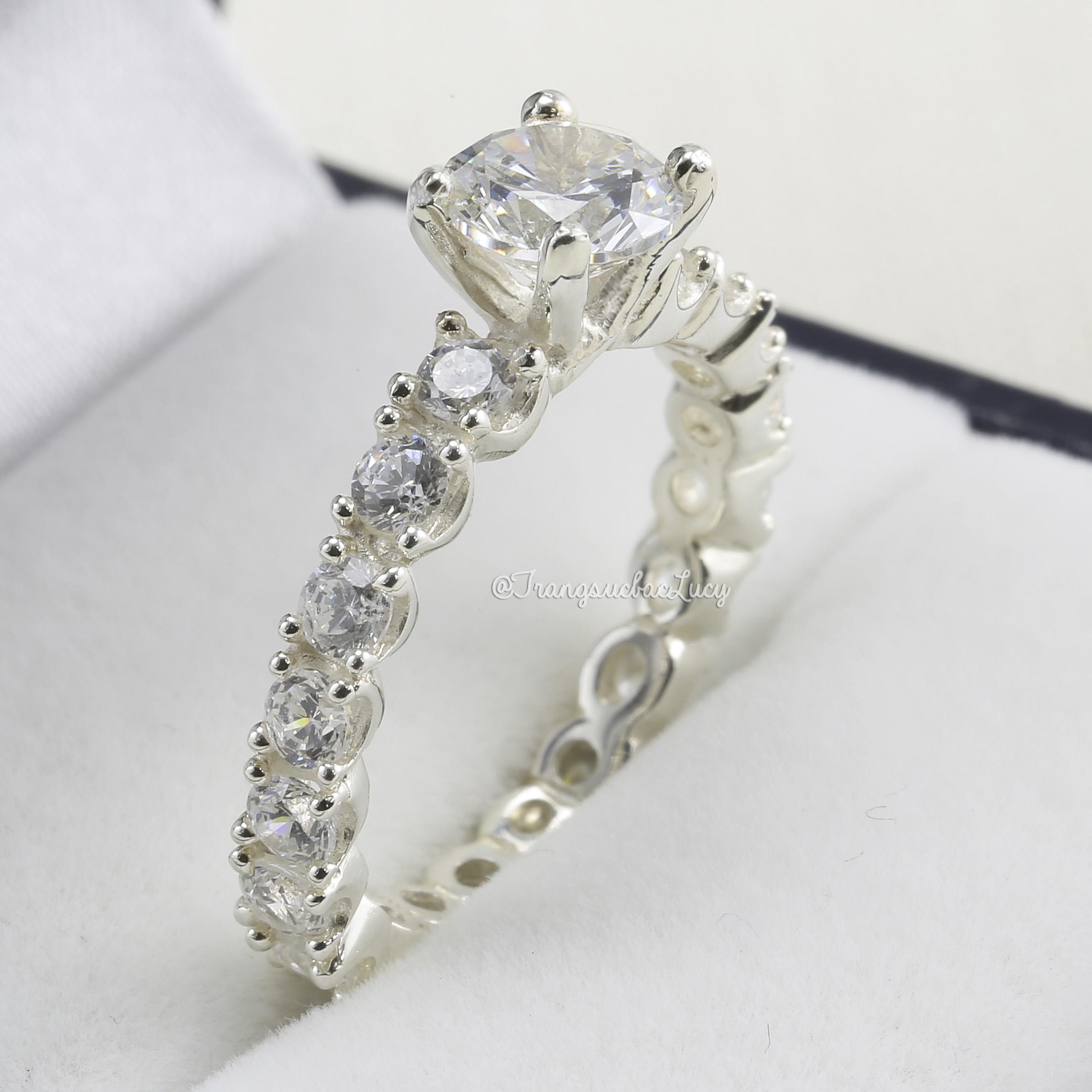 Nhẫn bạc nữ đẹp - RW158