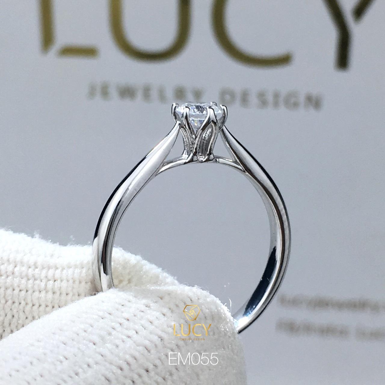 EM055 Nhẫn nữ vàng, nhẫn ổ kim, nhẫn nữ thiết kế, nhẫn cầu hôn, nhẫn đính hôn - Lucy Jewelry