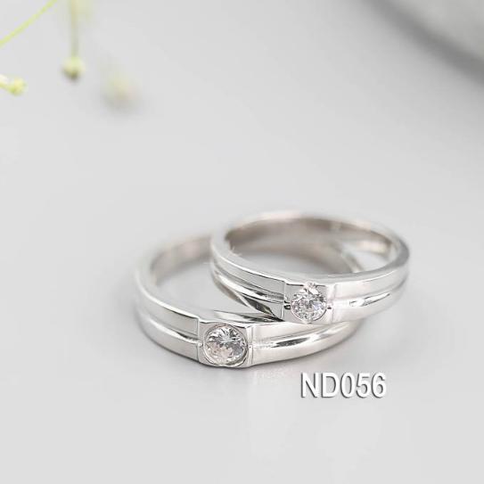 Nhẫn đôi nhẫn cặp bạc Lucy - ND056