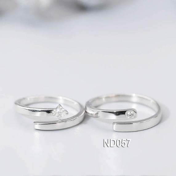 Nhẫn đôi nhẫn cặp bạc Lucy - ND057