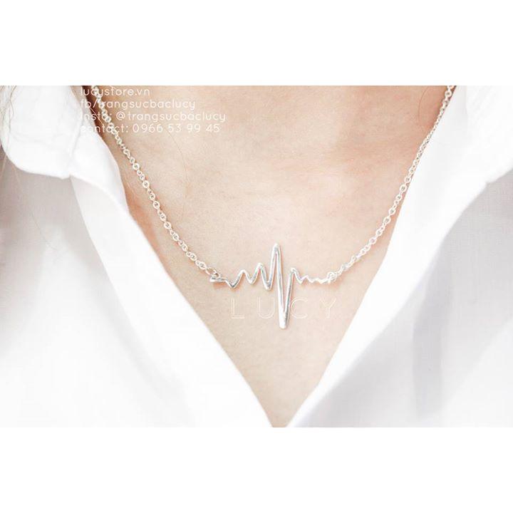 (ORDER) Dây chuyền bạc mặt nhịp tim - DC140