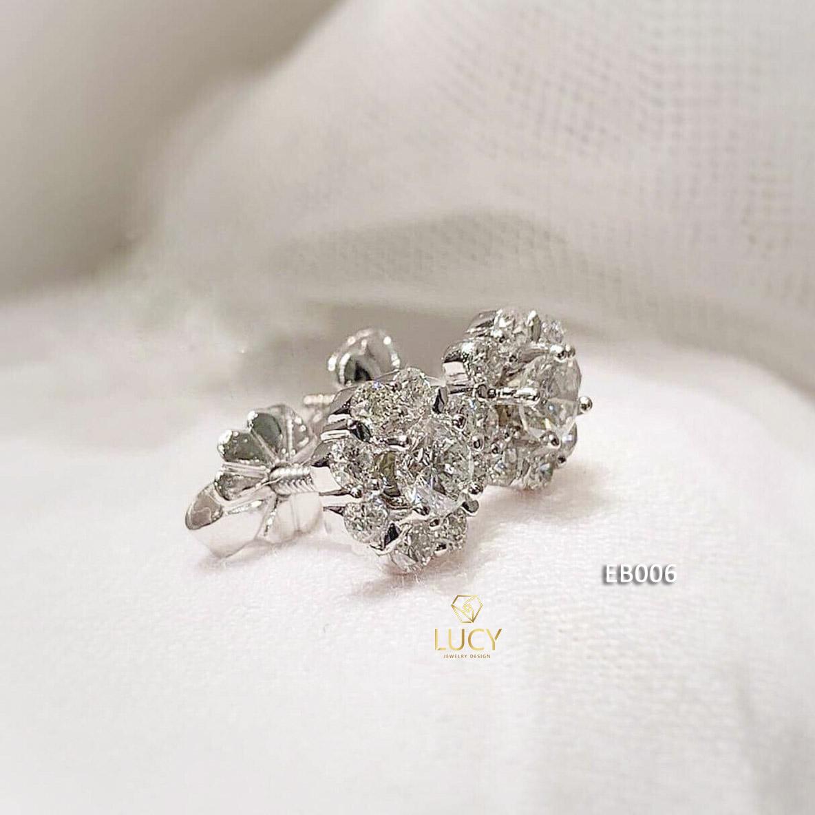 EB006 Khuyên tai vàng thiết kế Lucy Jewelry
