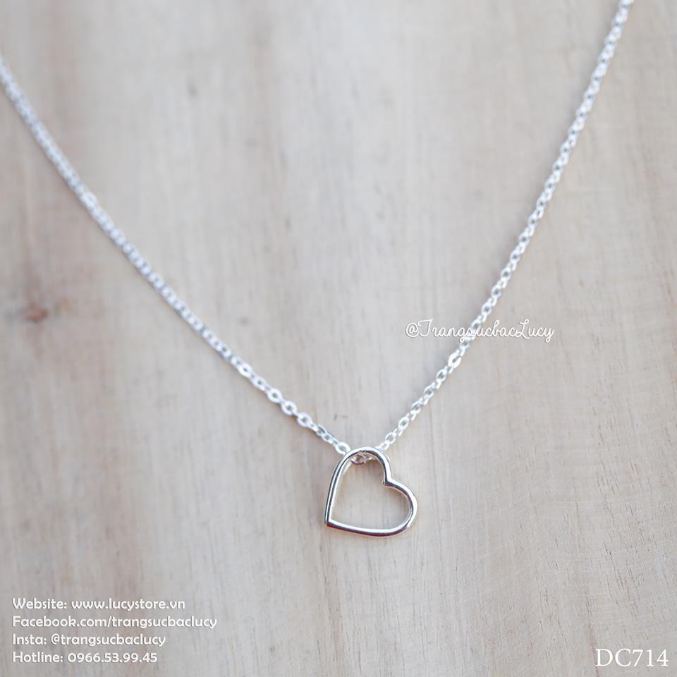 Dây chuyền trái tim bạc Lucy - DC714 - ORDER