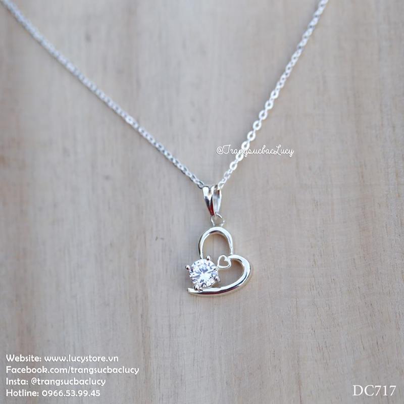 Dây chuyền trái tim bạc Lucy - DC717 - ORDER