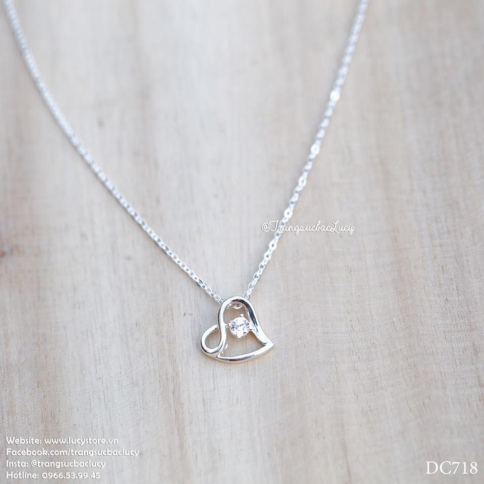 Dây chuyền trái tim bạc Lucy - DC718 - order