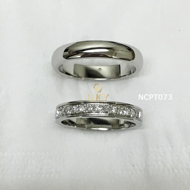 NCPT073 Nhẫn cưới bạch kim cao cấp Platinum 90% PT900 - Lucy Jewelry