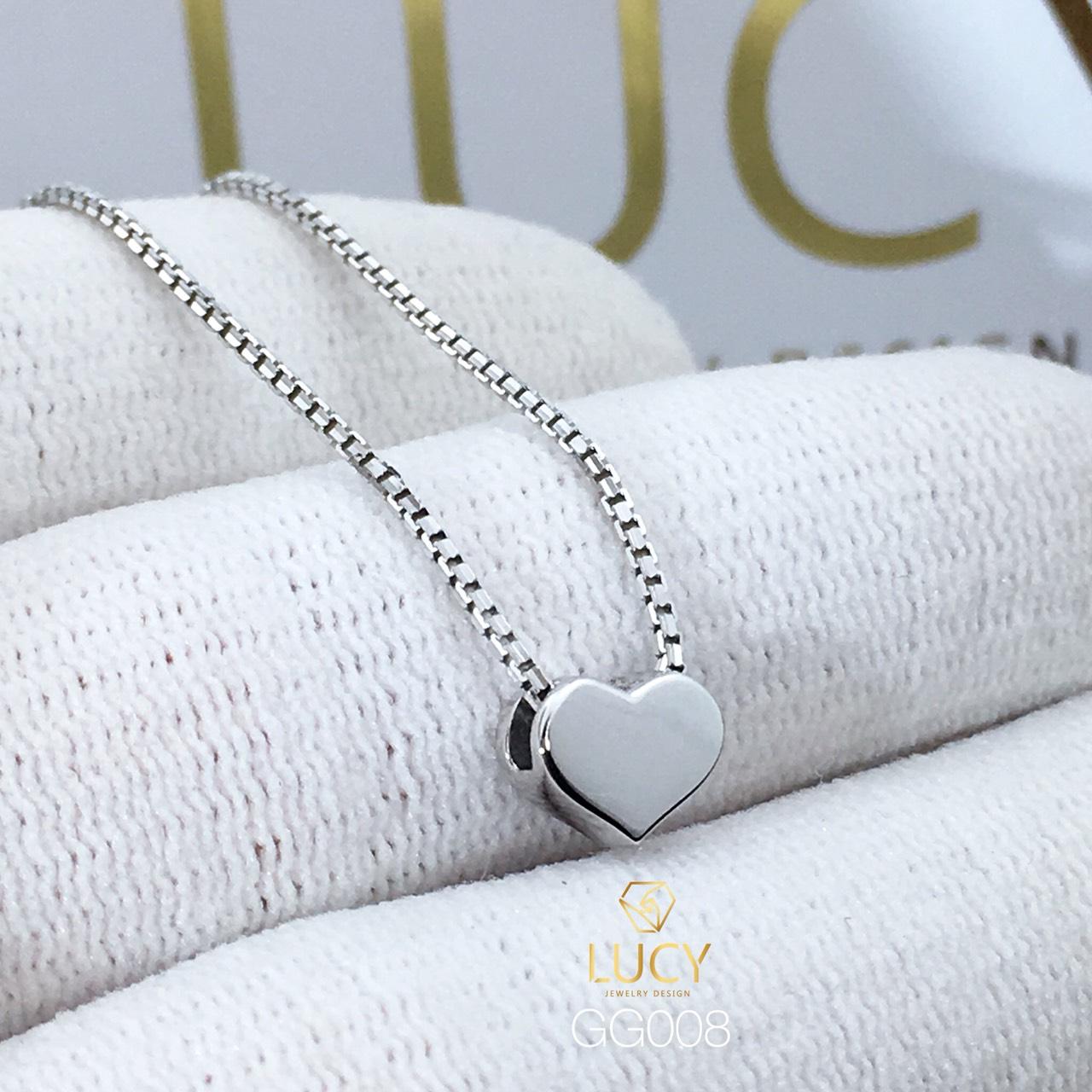 GG008 Mặt dây chuyền thiết kế vàng 10k 14k 18k - Lucy Jewely