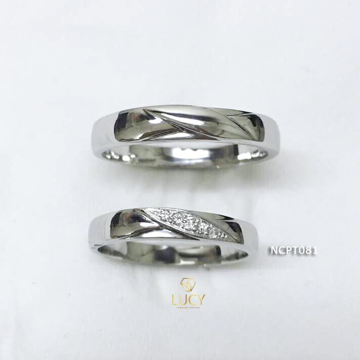 NCPT081 Nhẫn cưới bạch kim cao cấp Platinum 90% PT900 - Lucy Jewelry