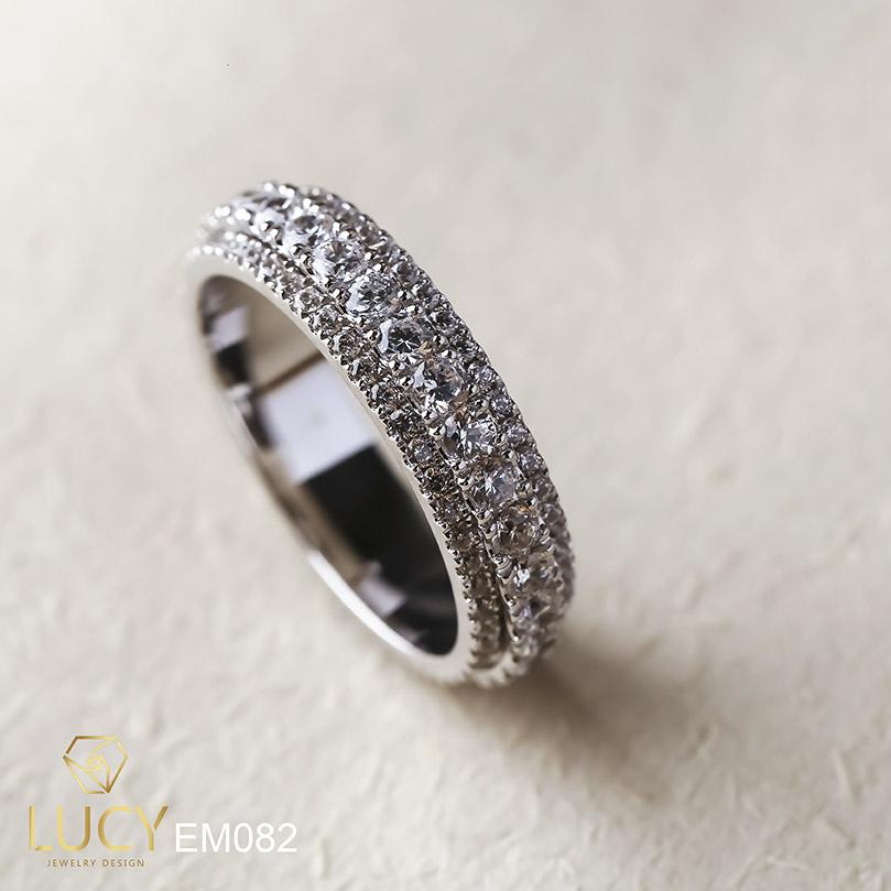 EM082 Nhẫn xoay unisex nam và nữ full đá - Lucy Jewelry