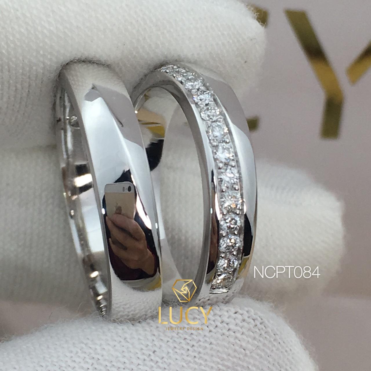 NCPT084 Nhẫn cưới bạch kim cao cấp Platinum 90% PT900 - Lucy Jewelry