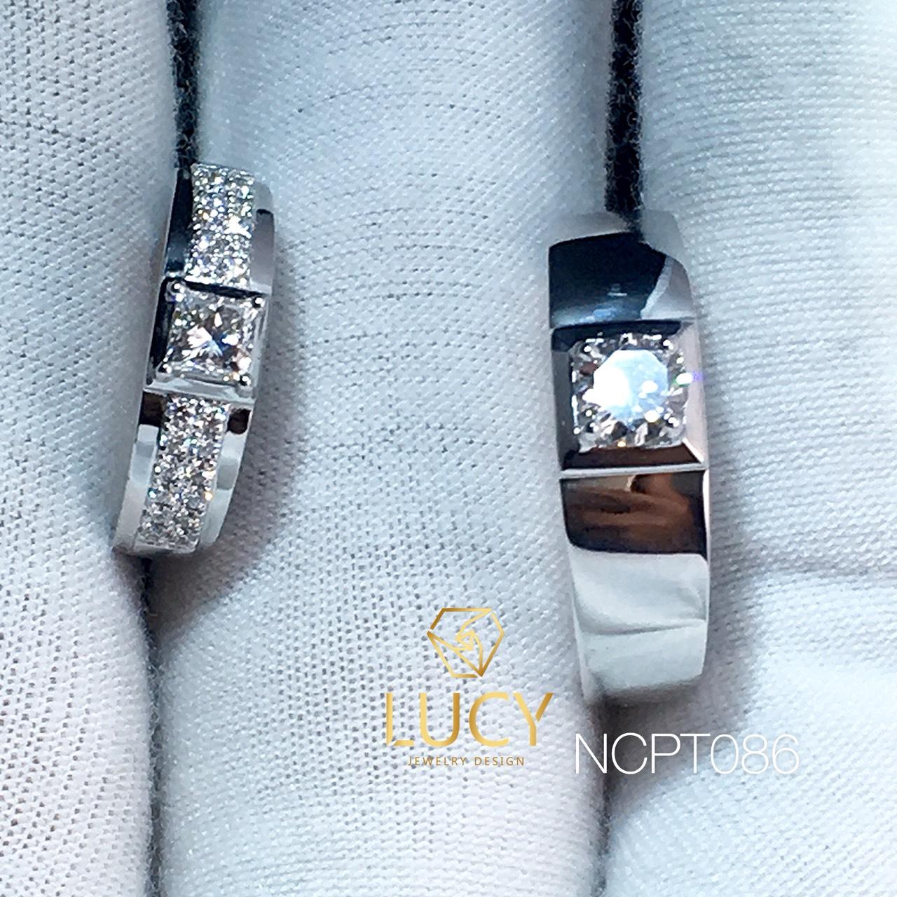 NCPT086 Nhẫn cưới bạch kim cao cấp Platinum 90% PT900 - Lucy Jewelry