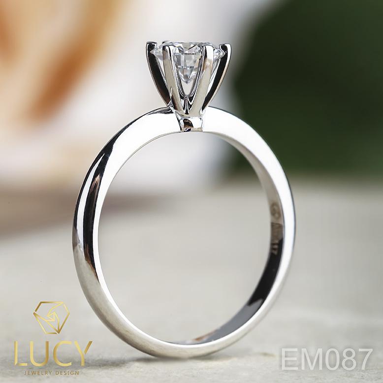 EM087 Nhẫn cầu hôn, nhẫn đính hôn, nhẫn kim cương 5.4mm 5.5mm, nhẫn nữ thiết kế đẹp - Lucy Jewelry