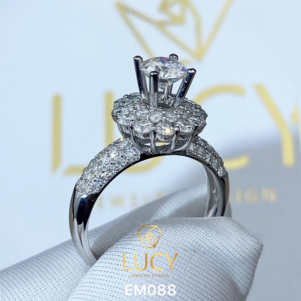 EM088 Nhẫn cầu hôn, nhẫn đính hôn, nhẫn kim cương 5.4mm 5.5mm, nhẫn nữ thiết kế đẹp - Lucy Jewelry