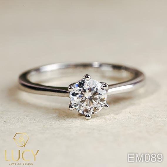 EM089 Nhẫn cầu hôn, nhẫn đính hôn, nhẫn kim cương 5mm, nhẫn nữ thiết kế đẹp - Lucy Jewelry