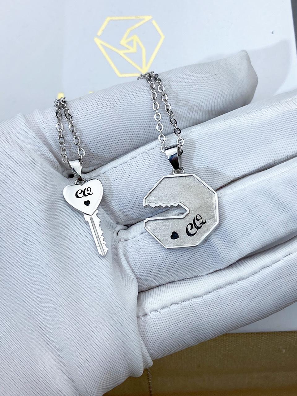Dây chuyền bạc đôi - Dây chuyền bạc cặp - Dây chuyền bạc cho couple
