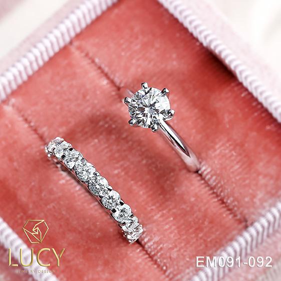EM091-092 Set nhẫn nữ, nhẫn bộ cho cô dâu - Lucy Jewelry