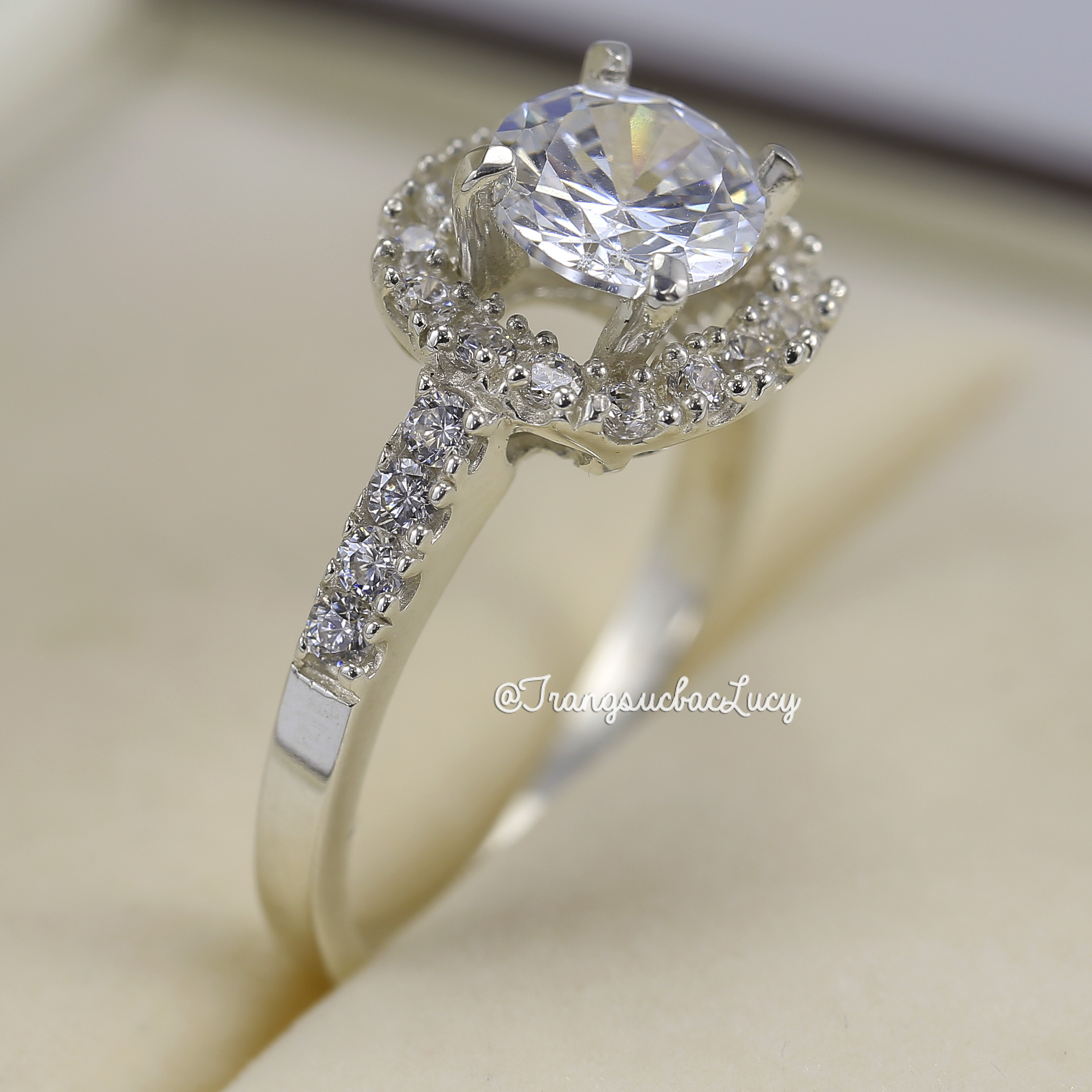 Nhẫn bạc nữ đẹp - RW179