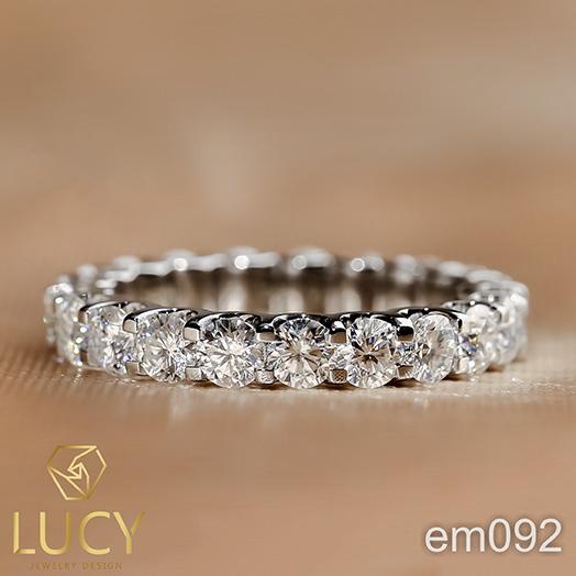EM092 Nhẫn nữ vàng, nhẫn full đá 3mm, nhẫn nữ thiết kế - Lucy Jewelry