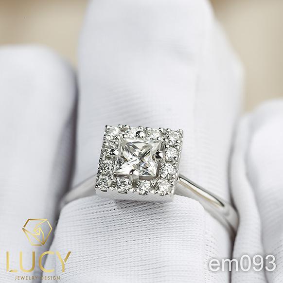 EM093_PT Nhẫn bạch kim Platinum 90% PT900 - Lucy Jewelry