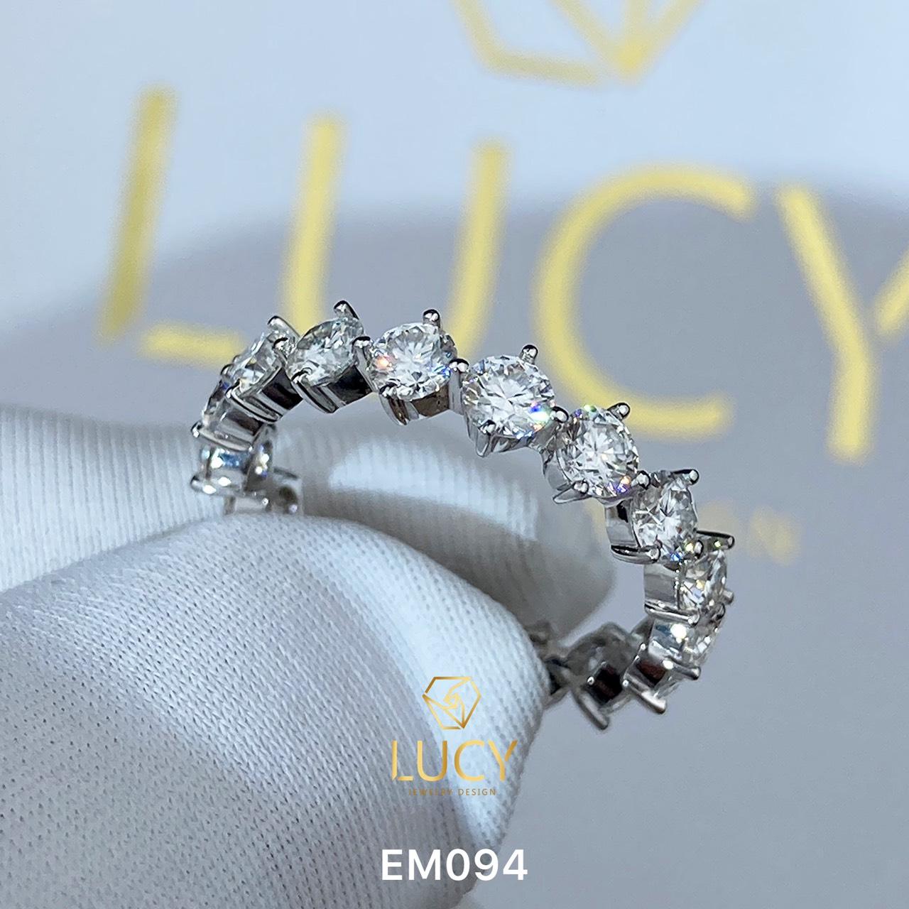 EM094 Nhẫn nữ vàng, nhẫn full đá 3mm, nhẫn nữ thiết kế - Lucy Jewelry