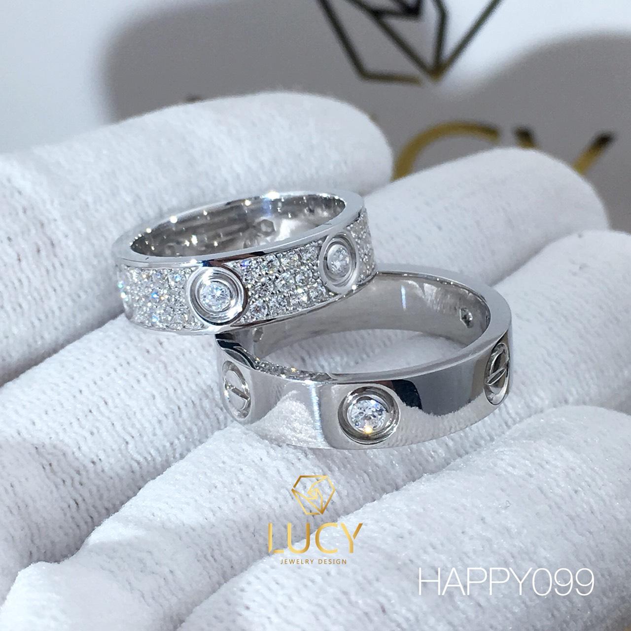 HAPPY099 Nhẫn cưới thiết kế - Lucy Jewelry