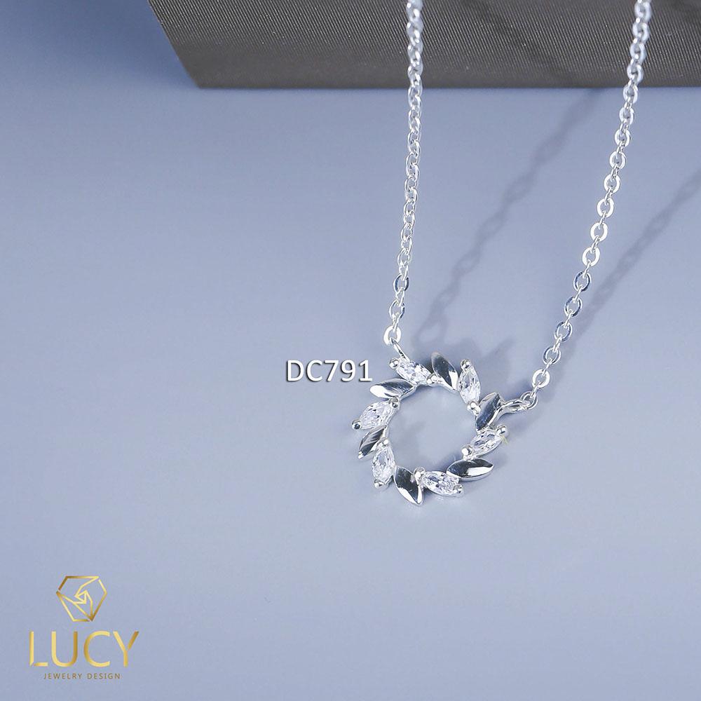 DC791 DÂY CHUYỀN VÒNG TRÒN NGUYỆT QUẾ BẠC LUCY BẠC 925