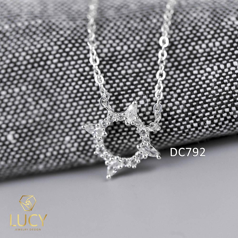 DC792 DÂY CHUYỀN VÒNG TRÒN MAY MẮN BẠC LUCY BẠC 925