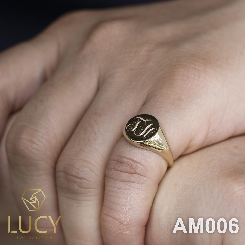 AM006 Nhẫn vàng nam đeo ngón út - Lucy Jewelry