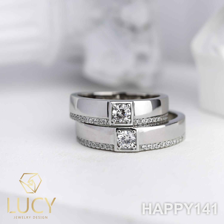 HAPPY141 Nhẫn cưới thiết kế, nhẫn cưới cao cấp, nhẫn cưới kim cương 3.5mm 3.6mm- Lucy Jewelry