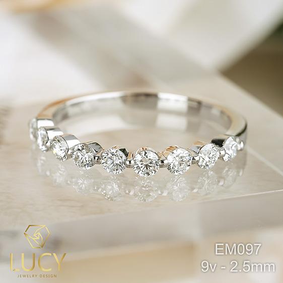 EM097 Nhẫn vàng nữ, nhẫn band 2.5mm, nhẫn nữ thiết kế - Lucy Jewelry